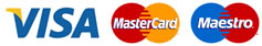We accept payment by Visa, Mastercard or Maestro